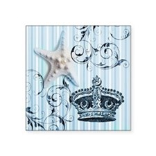 "blue stripes pattern starfi Square Sticker 3"" x 3"""