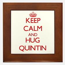 Keep Calm and HUG Quintin Framed Tile