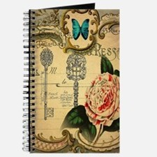 butterfly pink rose vintage victorian Journal
