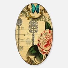 butterfly pink rose vintage victori Decal