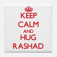 Keep Calm and HUG Rashad Tile Coaster