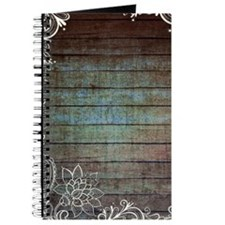 vintage lace blue barn wood country Journal