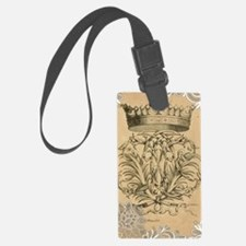 lace vintage crown flourish swir Luggage Tag