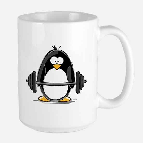 Weight lifting penguin Mugs