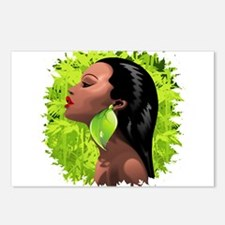 Woman African Beauty and Bamboo Postcards (Package