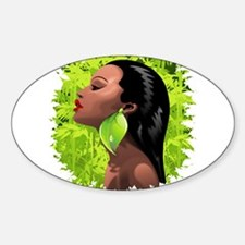 Woman African Beauty and Bamboo Decal