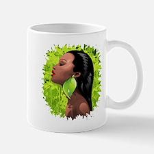 Woman African Beauty and Bamboo Mugs