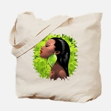 Woman African Beauty and Bamboo Tote Bag