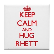 Keep Calm and HUG Rhett Tile Coaster