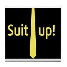 """Suit Up"" Barney Stinson Tile Coaster"