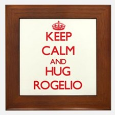 Keep Calm and HUG Rogelio Framed Tile