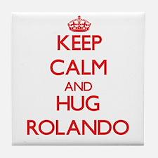 Keep Calm and HUG Rolando Tile Coaster