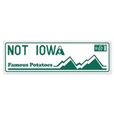 Not Iowa - 1890 Bumper Sticker