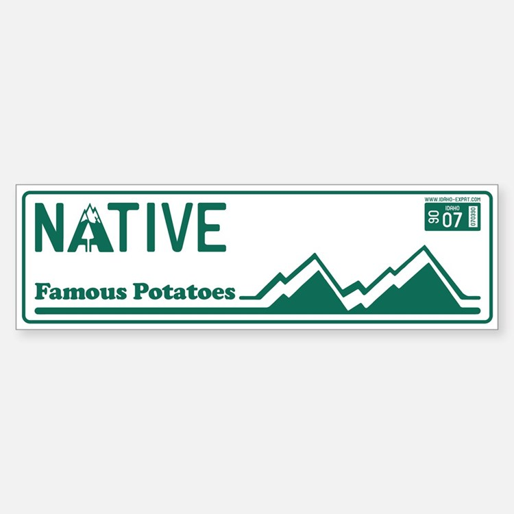 Idaho Native - 1890 Bumper Bumper Sticker