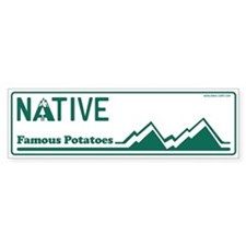 Idaho Native - Plain Bumper Sticker