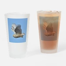 Snowy in flight Drinking Glass