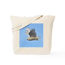 Snowy In Flight Tote Bag