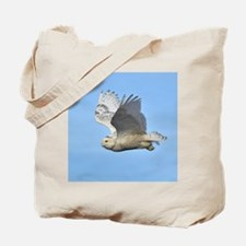 Snowy In Flight Tote Bag