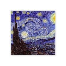 "Starry Night Square Sticker 3"" x 3"""