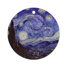 Starry Night Round Ornament