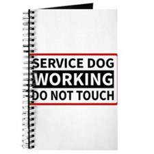 Service Dog Working Please Do Not Touch Journal