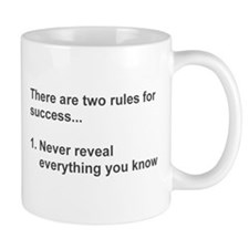 Two Rules For Success Revealed Mugs