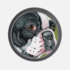Boston Terrier Profile Wall Clock