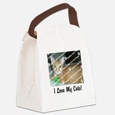 CUSTOMIZE Add Photo Love CatS Canvas Lunch Bag