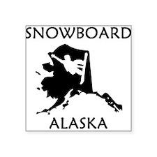 Snowboard Alaska Sticker
