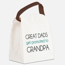 Great Dads Get Promoted To Grandpa Canvas Lunch Ba