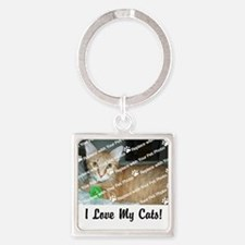 CUSTOMIZE Add Photo Love CatS Keychains
