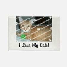 CUSTOMIZE Add Photo Love CatS Magnets