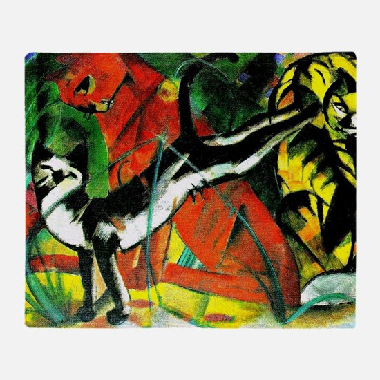Franz Marc - Three Cats, 1913 Marc p Throw Blanket
