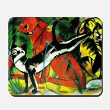 Franz Marc - Three Cats, 1913 Marc paint Mousepad