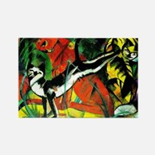 Franz Marc - Three Cats, 1913 Mar Rectangle Magnet
