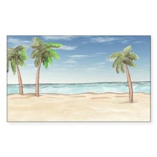 Beach With Palm Trees Decal