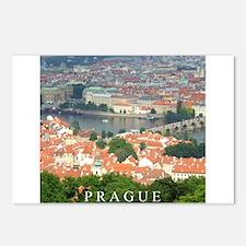 Prague Charles Bridge over Vltava river Postcards