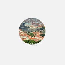 Prague Charles Bridge over Vltava river Mini Butto