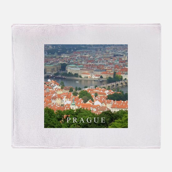 Prague Charles Bridge over Vltava river Throw Blan