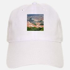 Prague Charles Bridge over Vltava river Baseball Baseball Cap