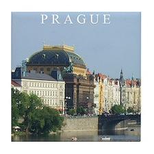 Prague State Opera House Tile Coaster