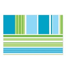 Blue and Green Stripes Postcards (Package of 8)
