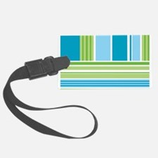Blue and Green Stripes Luggage Tag