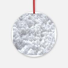 White Snow texture Ornament (Round)