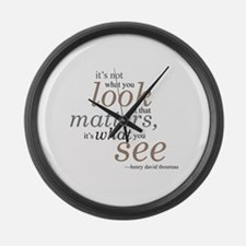 It's not what you look at... Large Wall Clock