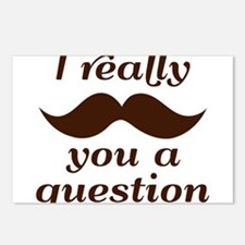 I Mustache You a Question Postcards (Package of 8)