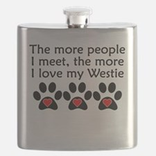 The More I Love My Westie Flask