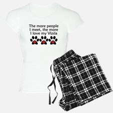 The More I Love My Vizsla Pajamas