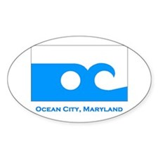 Ocean City MD Flag Rectangle Decal