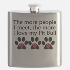 The More I Love My Pit Bull Flask